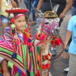 Little girl in downtown Lima