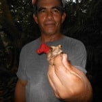 Our tour guide with a toad